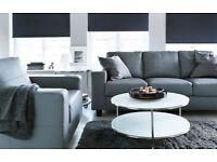 Ikea white round glass coffee table