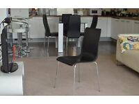 500% off retro black dining chair