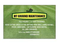 MT garden services grass cutting, hedge cutting