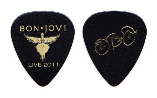 Bon Jovi Jon Bon Jovi Signature Black Guitar Pick - 2011 Bon Jovi Live Tour