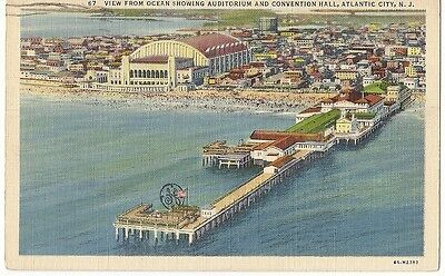 Org Vintage 1930-45 Atlantic City PC- GE Pier- General Electric- Convention Hall
