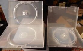 DVD Cases (Empty!) 100 Singles, 50 Doubles