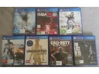 7 Ps4 games for £40