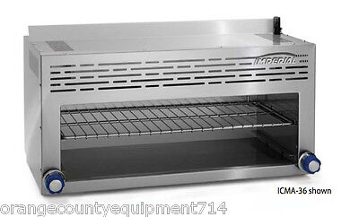 New 36 Gas Cheese Melter Imperial Icma-36 Infrared Broiler 4586 Commercial Nsf