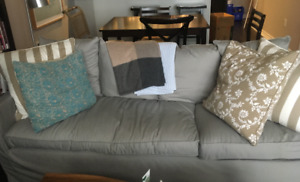 Couch for sale - ikea 3-seat sofa sectional; grey or purple
