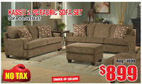 Kassie 2pc Fabric Sofa Set, Now on Clearance $899 Tax Included!
