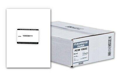 Purus Polyethylene Cleanroom Paper White 8-12 X 11 2500case Brand New