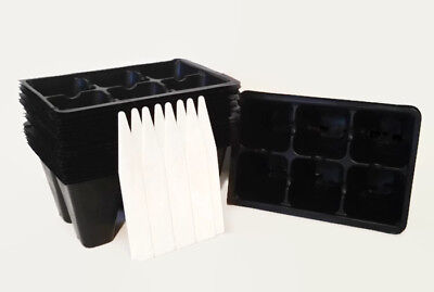 Seed Starting Tray Insert, 144 Cells = 24 Six Packs = 2 Flats +8 Plant (Planting Tray)