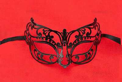Mask from Venice Wolf Piou Piou Luxury Venetian Lace Metal Black 408