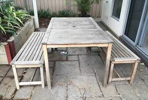 Outdoors Table and Bench Set Magill Campbelltown Area Preview