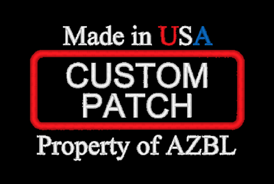 CUSTOM EMBROIDERED PATCH 1.5 x 4 ROUND CORNER INCH MADE IN USA SAYING NAME TITLE