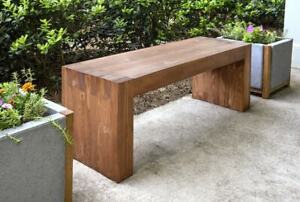 Cedar Wood Bench- Modern Bench for your Patio Custom Handcrafted