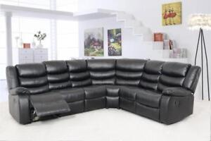 SECTIONAL RECLINER IN BLACK LEATHER ME01- 5965 (BD-1327)