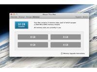 Apple Imac MAC MINI Ram Kit SO DIMM 12800 DDR3 1600Mhz 4x8GB= 32GB