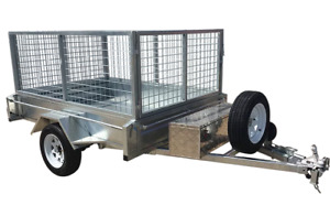 7x5 Single Axel 1500kg Galvanized Box Trailer with 800mm Cage & 300mm Sides $49p/w Garbutt Townsville City Preview