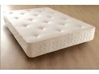 Brand New Comfy Double Quilted Ortho Spring mattress in White FREE Delivery