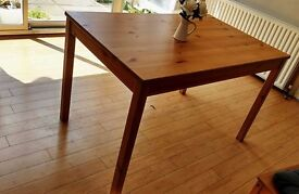 Only wooden table