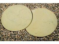 Round/Interlocking Buff Riven Garden Path Stepping Stones