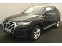 Black AUDI Q7 3.0 TDI Diesel QUATTRO S LINE FROM £195 PER WEEK!