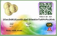 Bitcoin Wallet Plastic Cards -  - ebay.es