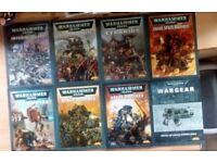 Warhammer 40k codex vintage. £3 each. £20 for the lot.