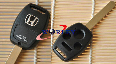 FOR Uncut Replacement Remote Head Key Fob Keyless Entry Honda accord 3+1 Buttons