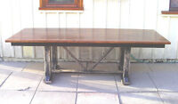 excellent trestle table-solid Pine lumber