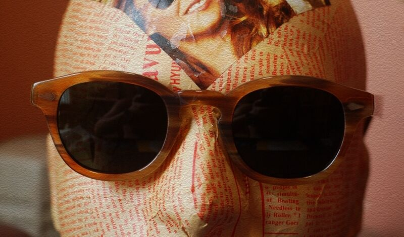 e7029060d9b ... Retro Vintage polarized sunglasses artists eyeglass mens Blonde G15  green lens ...