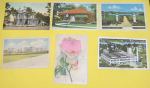 Lot  of 6 Older Collectable Ontario Postcards