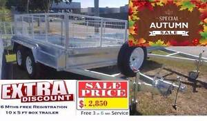20# 10×5 FT  BOX TANDEM AXLE TRAILER 2000kg (Fully Welded) EXTEND Ipswich Ipswich City Preview