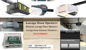 Garage Door Openers - Remote Garage Door Opener & Monitor Kitchener / Waterloo Kitchener Area image 1