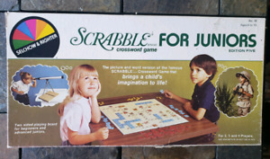 educational Vintage 1982 SCRABBLE for Juniors word board game