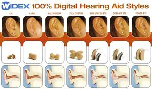 In-The-Ear Widex Hearing Aids + 40 Batteries & Accessories Kingston Kingston Area image 2