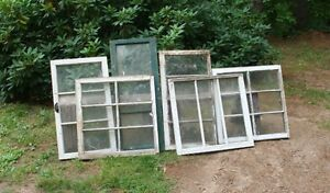 Vintage Small Wooden Windows, Picture Frames, Mirrors, Signs,