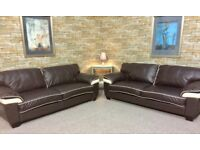SOFAS**BEAUTIFUL LEATHER SUITE**DELIVERY AVAILABLE**