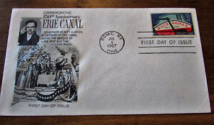 1967 150th Anniversary Erie Canal 5 Cent First Day Cover Kitchener / Waterloo Kitchener Area image 4