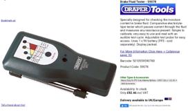 BRAKE FLUID TESTER BFT1 Draper
