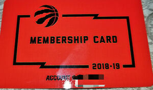 ***2018/19 FULL SEASON TICKETS – LOWER BOWL – TORONTO RAPTORS***