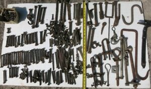 Large Collection of Bolts and Other Hardware