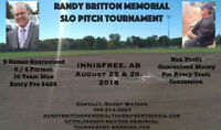 Randy Britton Memorial Slo Pitch Tourney -  Innisfree, Alberta