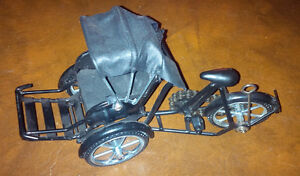 Replica Metal Toy Bicycle with Rider Up Front