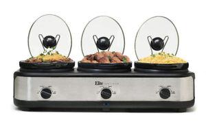 Unused Elite Platinum Triple Slow Cooker