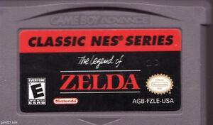 GBA Legend of Zelda- classic nes series