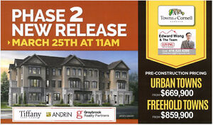 TOWNS OF CORNELL MARKHAM Tiffany Park FINAL RELEASE Townhomes