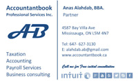 Tax and Accounting Services GTA Mississauga ,Oavkille, Brampton
