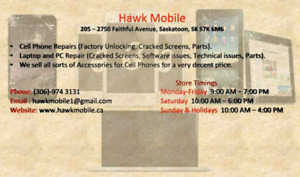 QUALITY PARTS AND SAME DAY CELLPHONE REPAIR AT HAWK MOBILE