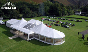 20 x 30 Party Tent Two Peaks Hold 500ppl