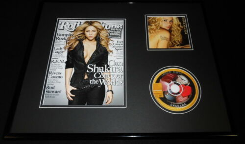 Shakira 16x20 Framed Laundry Service CD & 2009 Rolling Stone Display