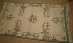 Indian Rug - cream background pure wool 3' x 5'