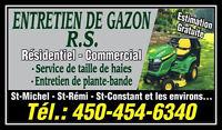ENTRETIEN DE GAZON R.S. *RÉSIDENTIEL / COMMERCIAL